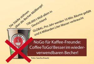 Coffee-to-Go ist ein No-Go für Kaffeefreunde