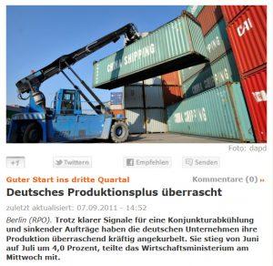 Container-Umschlag: Das Symbol für Wirtschftswachstum