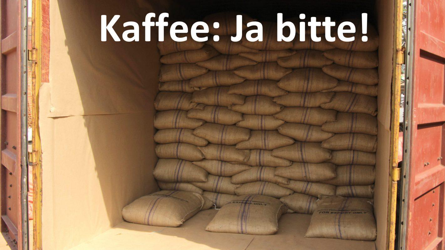 Kaffee-Container besitzen ein umfangreiches Regelwerk, um die Ware während des Transports zu schützen. Für Menschen auf der Flucht vor den miserablen Kaffeepreisen gibt es diese Vorschriften nicht.