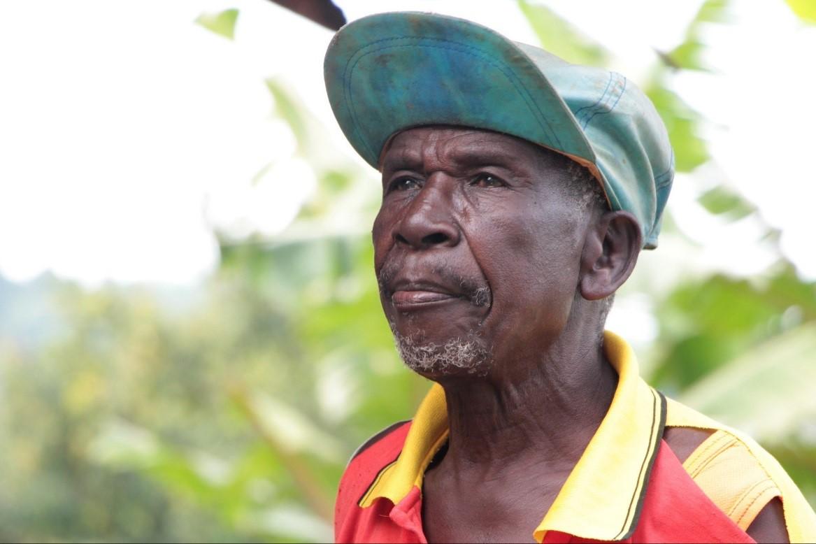 Kaffee-Farmer Daniel Namudoto 2013 - 78 Jahre alt