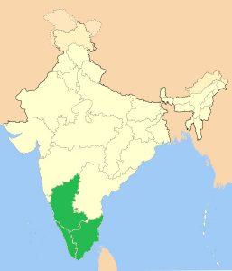 Kaffeergionen in Inden an der Südwest-Küste (Karte Wikipedia)