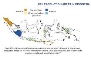Kaffeeregionen in Indonesien