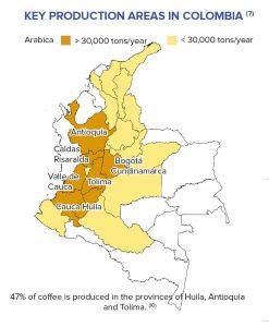 Kaffee-Anbauregionen Kolumbien
