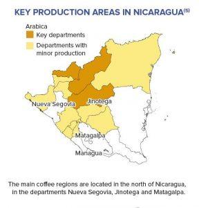 Kaffee-Regionen in Nicaragua