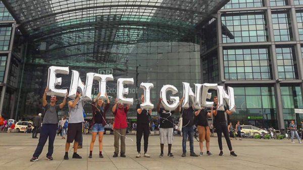 Berliner Mieterdemo am 26.9.2018. Damals begann die Kampagne zur Enteignung Fahrt aufzunehmen.