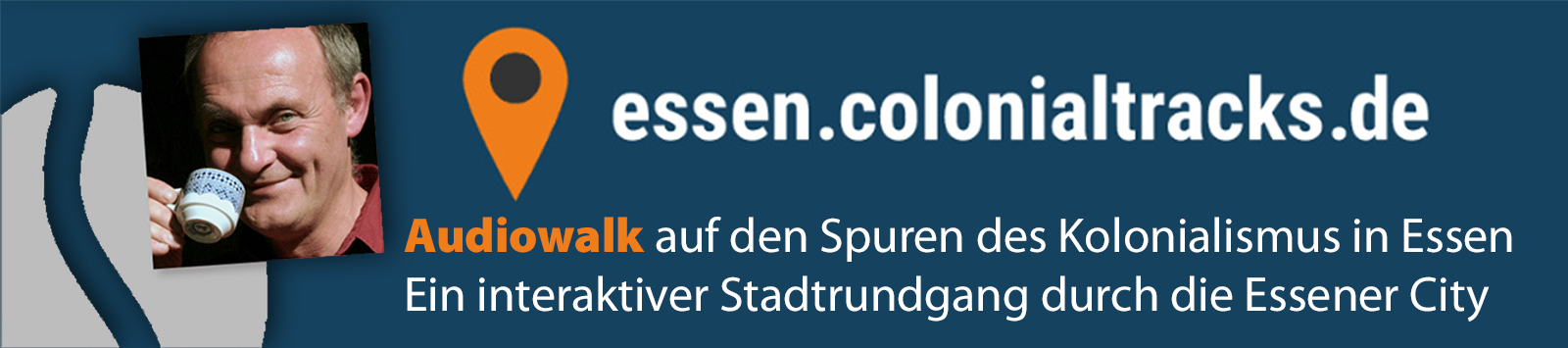 derRÖSTER Alex Kunkel mit mehreren Beiträgen im AUDIO-WALK essen.colonialtracks.de