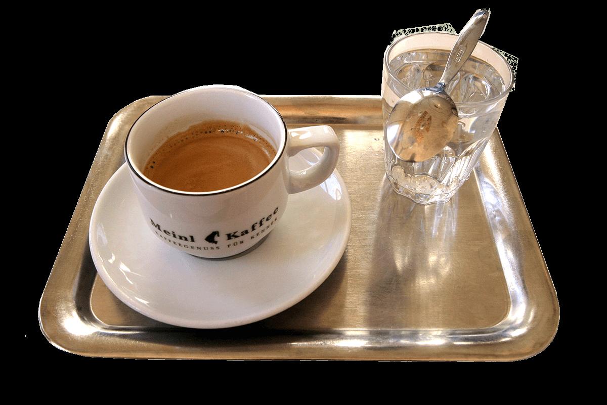 Kaffee-Gedeck in Wien / 2008 Foto: Alex Kunkel